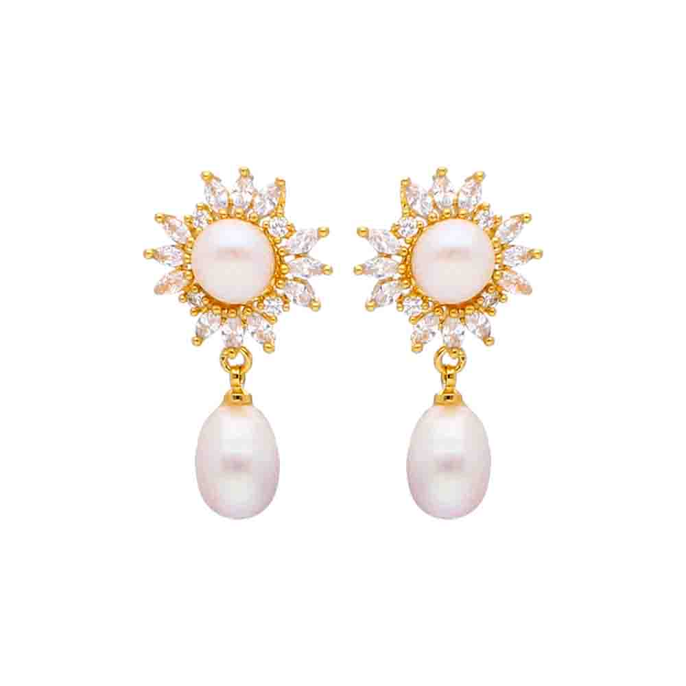 Blazing Pearl Earrings