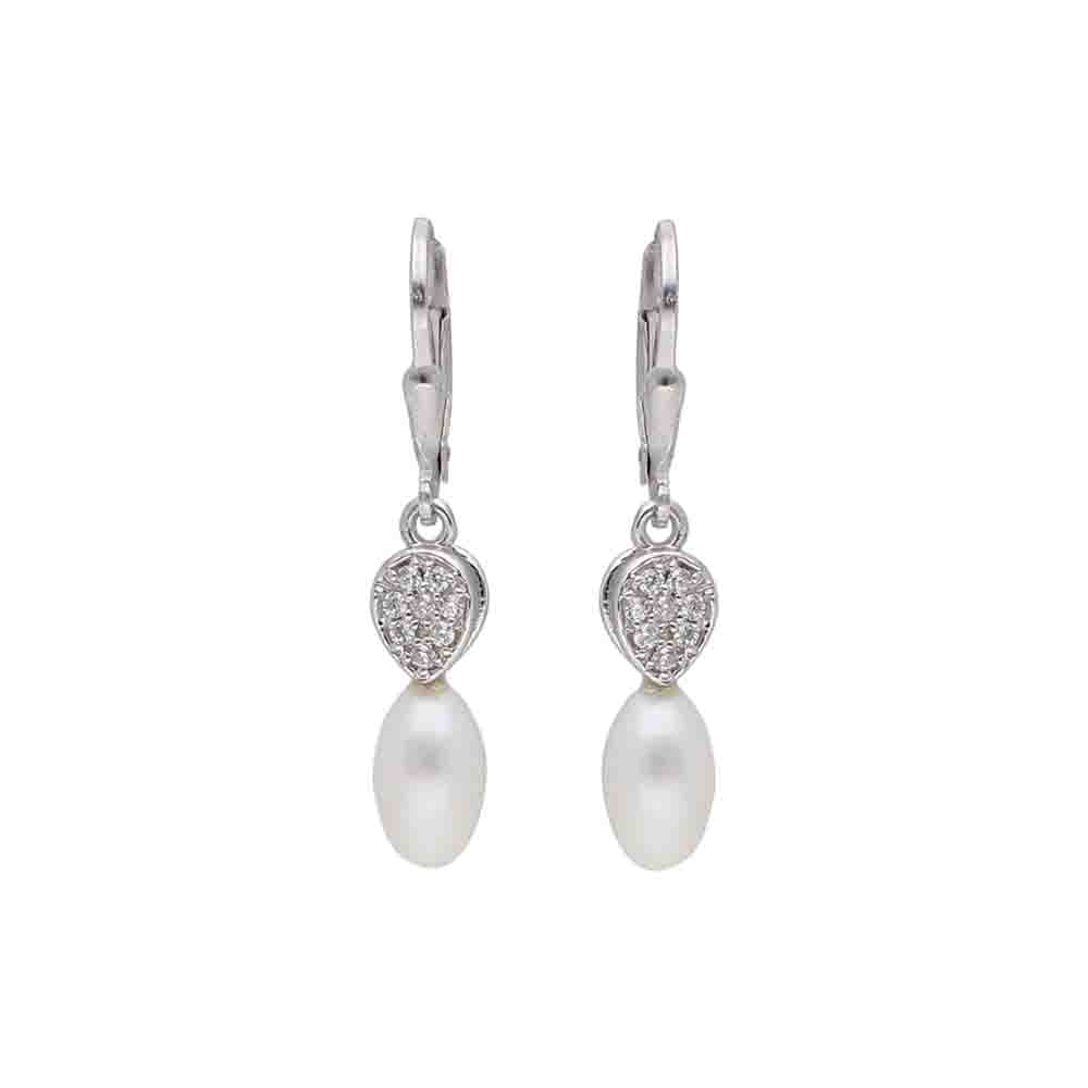 Ninna 925 Sterling Silver Pearl Earrings