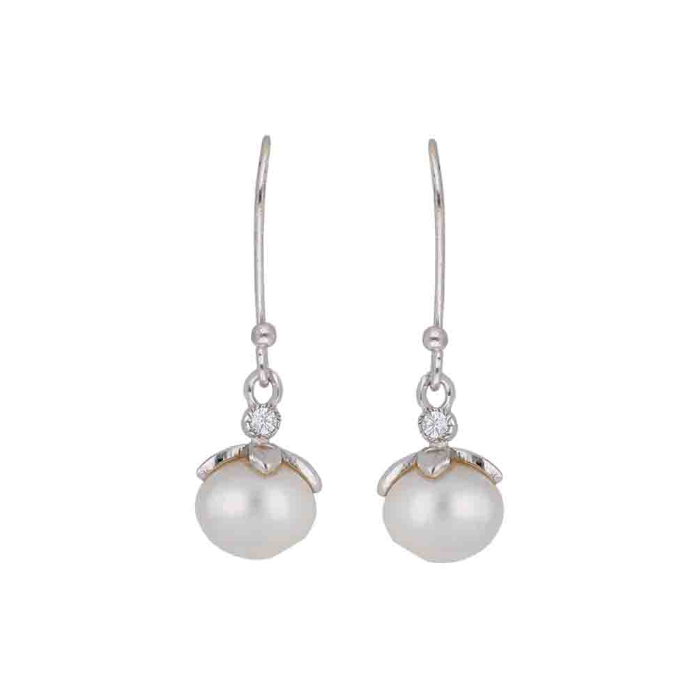Derwin 925 Sterling Silver Pearl Earrings
