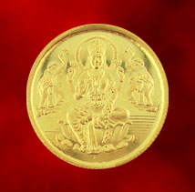 Gold-Jagdamba 22Kt Lakshmi Gold Coin- 10 Grams