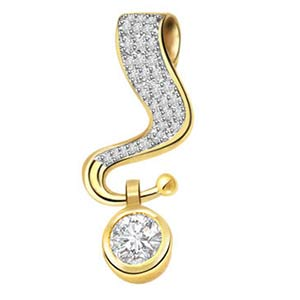 Diamond Pendants-Sparkling Diamond Pendant