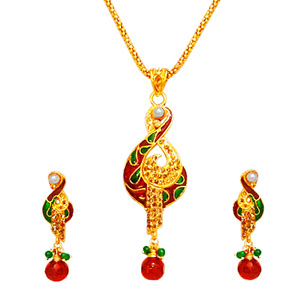 Gold Plated Sets-Gold Plated Pendant Set