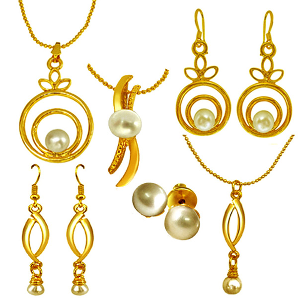 Pearl Sets-Contemporary Pearl Set