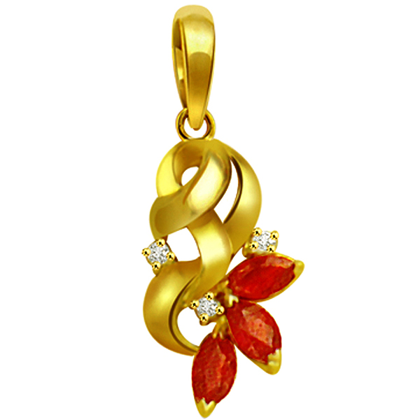 Diamond & Marq Ruby Pendant