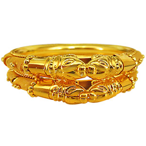 Gold / Silver Plated Bangles-Gold Plated Bangles - Set of 2