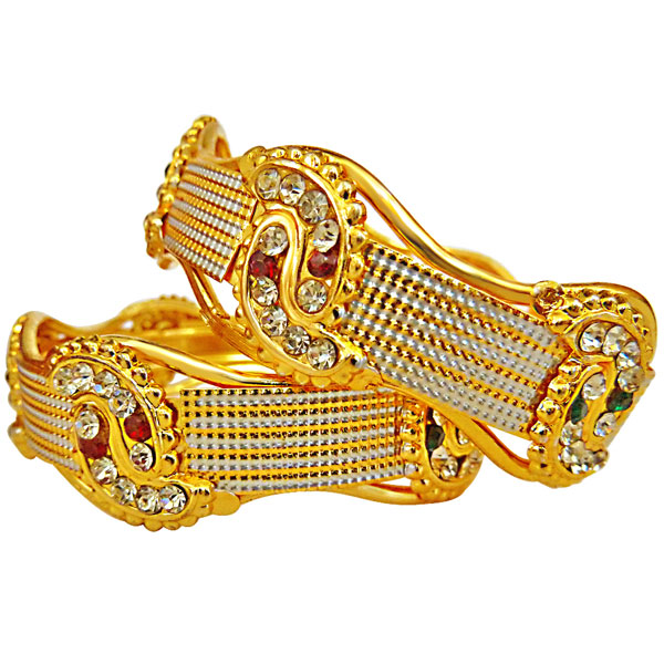 Gold Plated Bangles - Set of 2