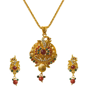 Precious Stone Sets-Pendant Necklace & Earrings Set