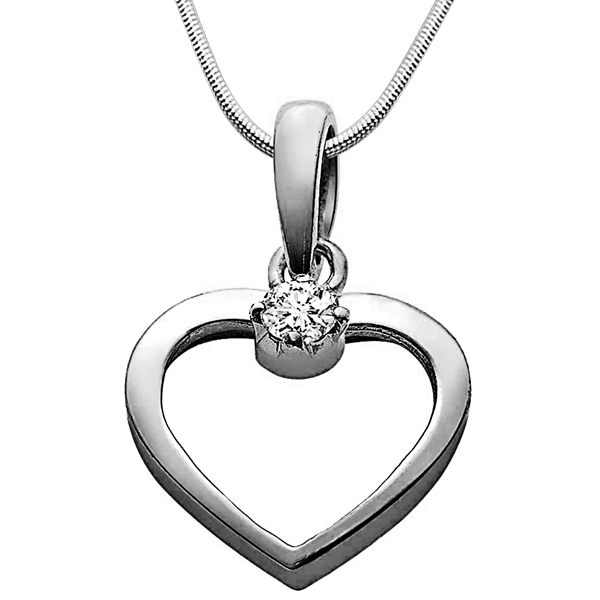 Love Cage - Diamond & Silver Pendant with Chain