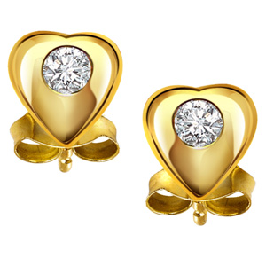 Diamond Earrings-Hearty Surprise