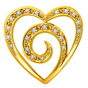 Diamond Pendants-Heart Diamond Pendant
