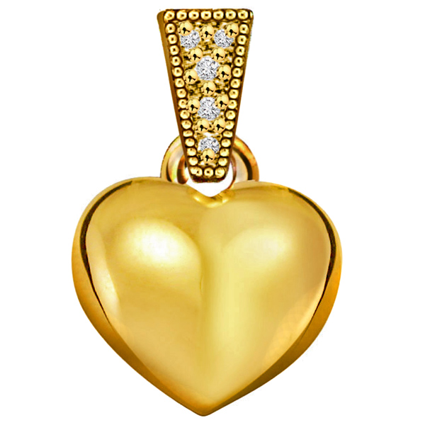 Heart Shape Classic Diamond Pendant