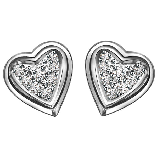 Diamond Earrings-Sweetheart Diamond Earrings