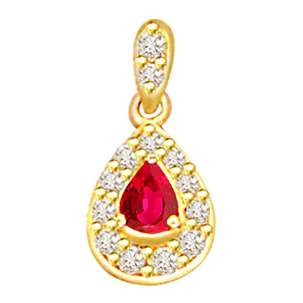 Diamond and Pearl Ruby Pendant