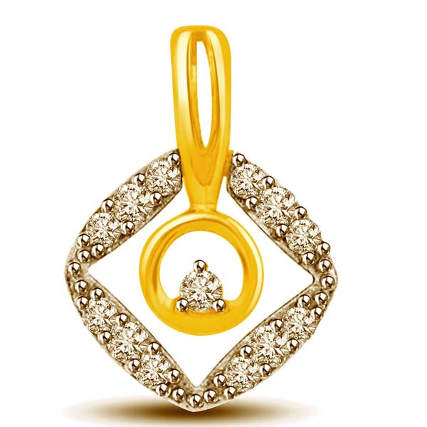 Diamond and Gold Pendant