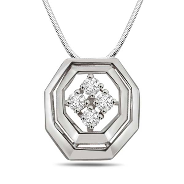 Diamond and Silver Pendant