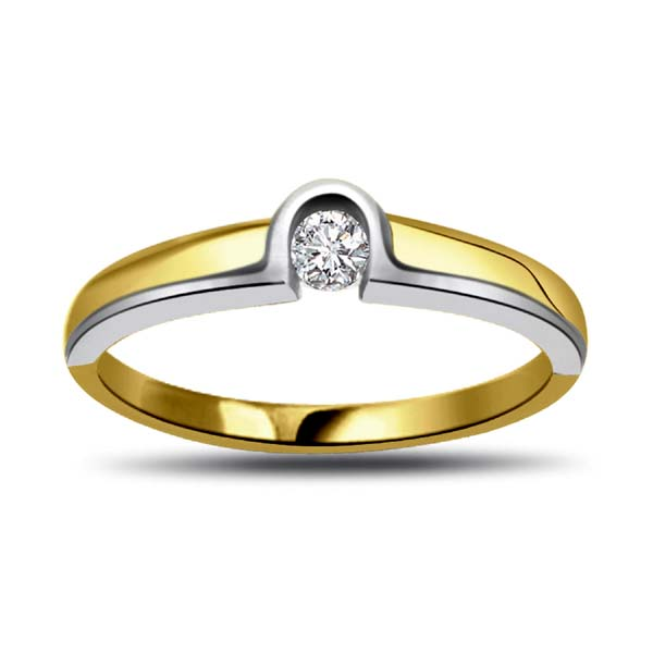 Diamond-Two Tone Diamond Gold Ring