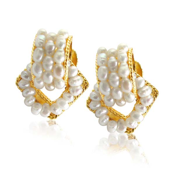 Enchanting Pure Pearl Earrings