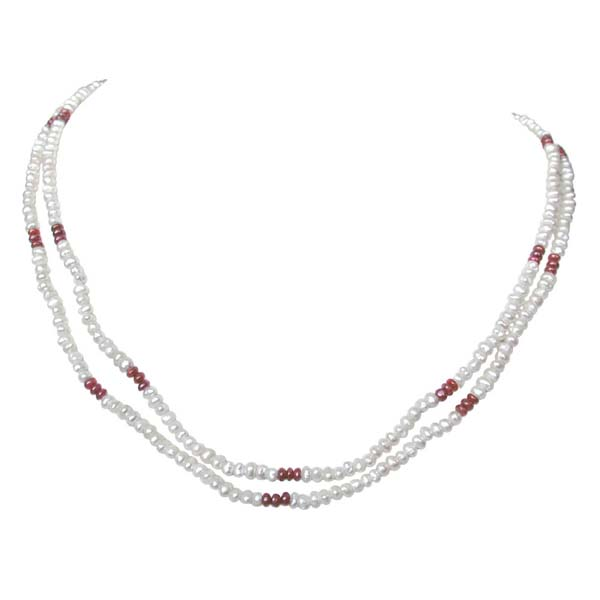 2 Line Pearl Necklace