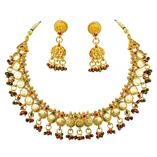 Traditional Necklace & Zumkha Earrings Set