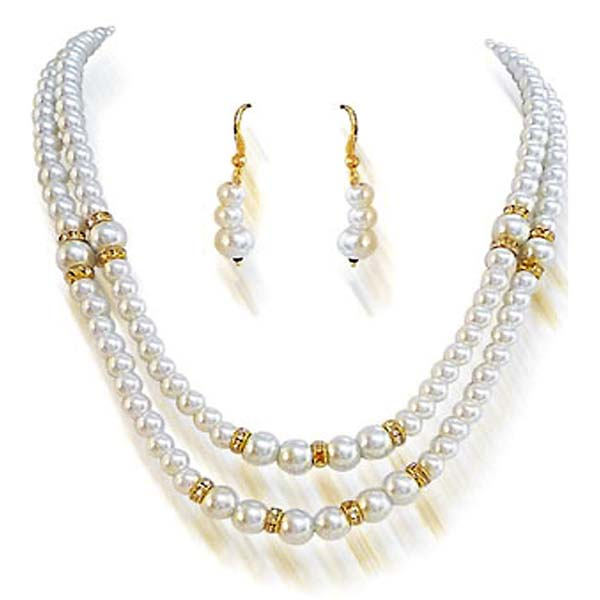 Rich Indian Shell Pearl Set