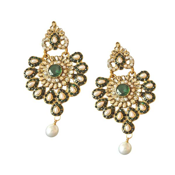 Floral Designed Chand Bali Earrings