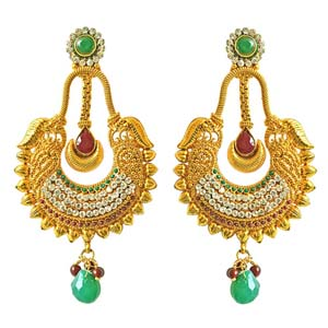 Gold Plated Earrings-Traditional Copper Dangling Earrings