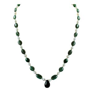 Precious Stone Necklaces-Real Drop Beads Necklace
