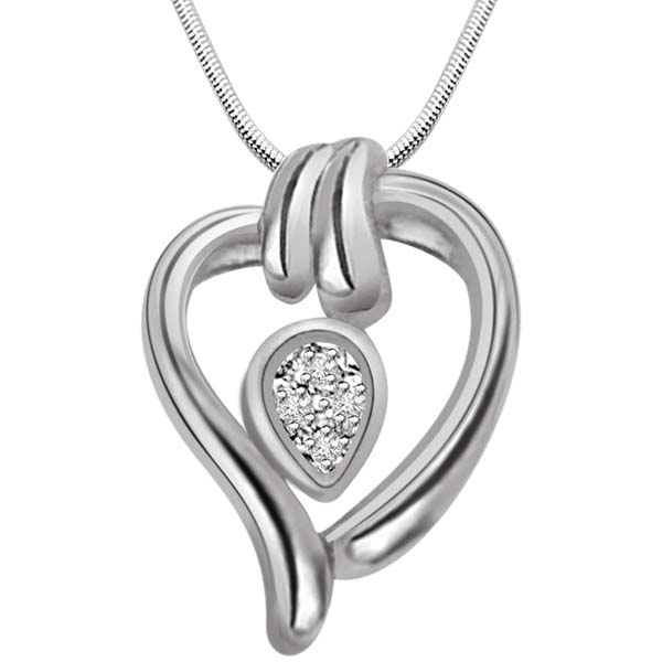 Diamond & Sterling Silver Pendant