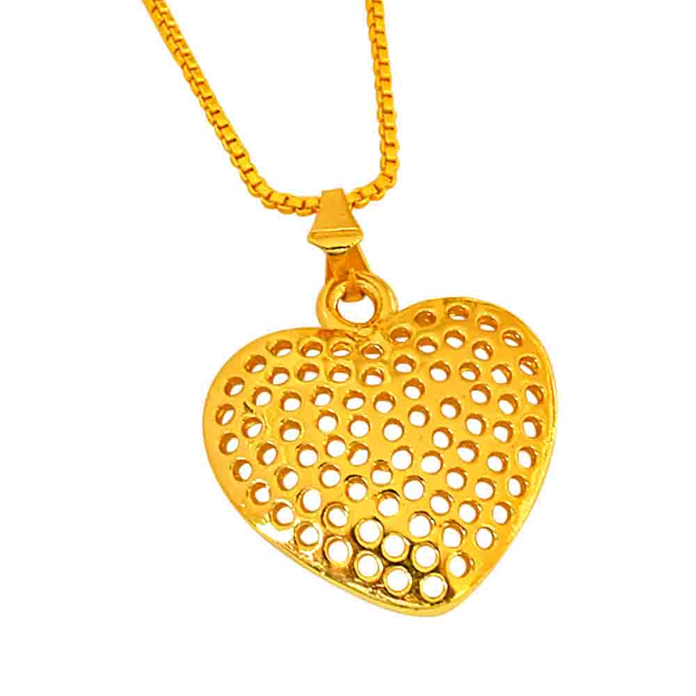 Small Heart Shaped Gold Plated Pendant