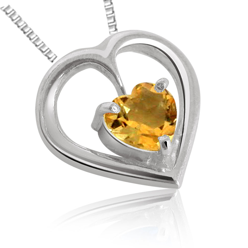 Heart Shaped Topaz Pendant