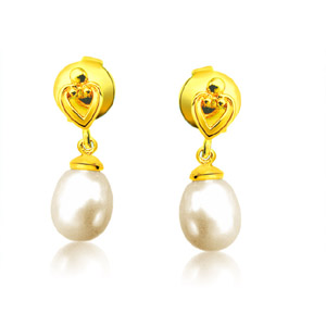 Pearl Pendants-Lovable Pearly Pair