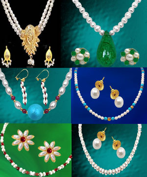 6 Colorful Freshwater Pearl Sets