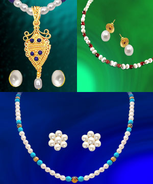 Pearl Sets-3 Colorful Freshwater Pearl Sets