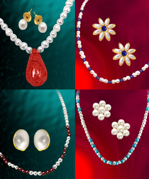 Pearl Sets-4 Colorful Freshwater Pearl Sets