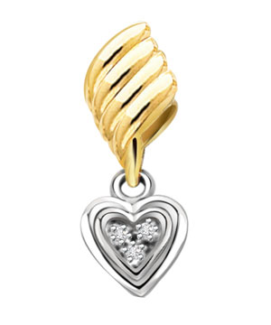 Diamond Pendants-Lovely Heart Shape Diamond Pendant