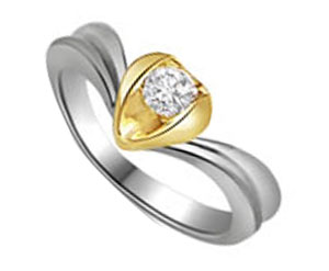 Diamond Heart Shape Solitaire Ring
