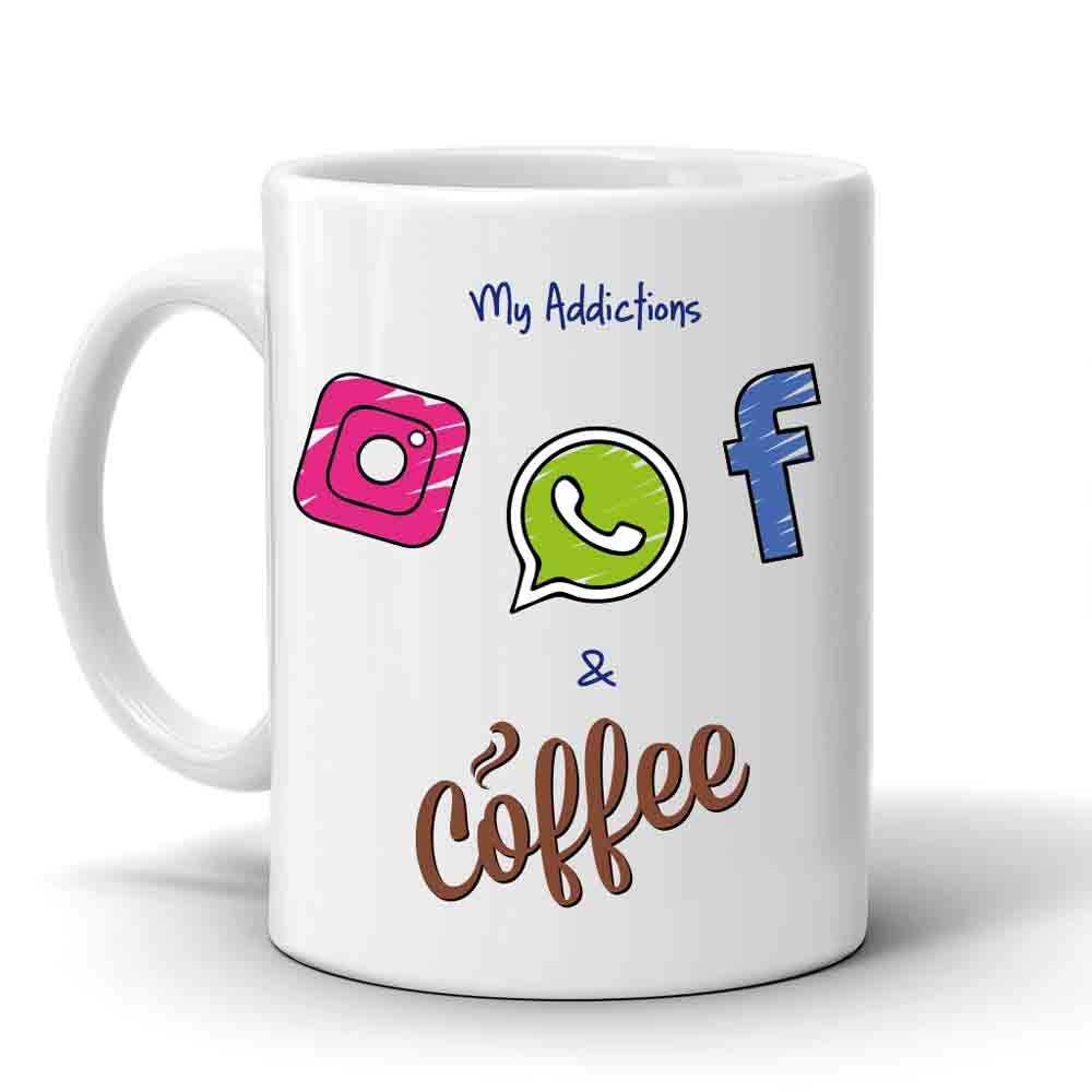 Mugs-Multi Color Addiction Mug