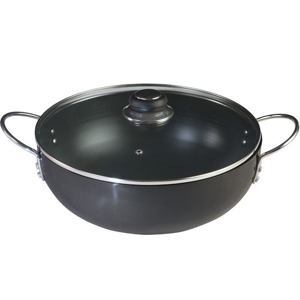 Hard Anodised Cookware-Nirlep Ebony Hard Anodised Kadai