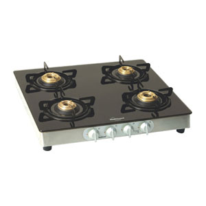 Sunflame Crystal Auto Ignition gas stove - 4 Burners