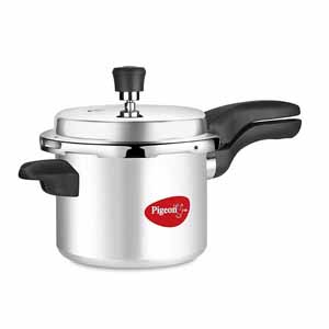 Stainless Steel Cookware-Pigeon Deluxe Aluminium Pressure Cooker 5 L