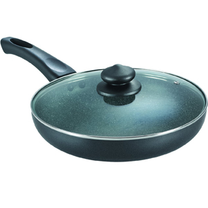Non-Stick Cookware-Prestige Omega Deluxe Granite Fry Pan with Lid