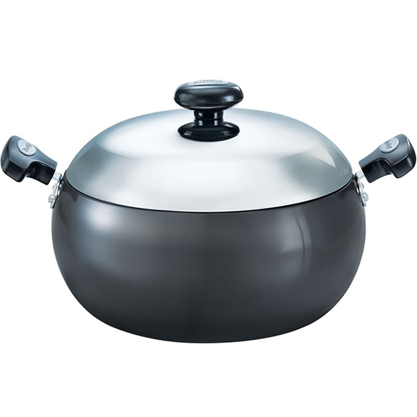 Prestige Hard Anodised Cookware Saute Pan with Lid