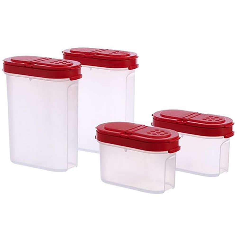 Tupperware Modular Spice Shakers Set Of 4