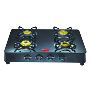 Gas Tops & Cook Tops-Prestige 4 Burners Glass Top - GT 04