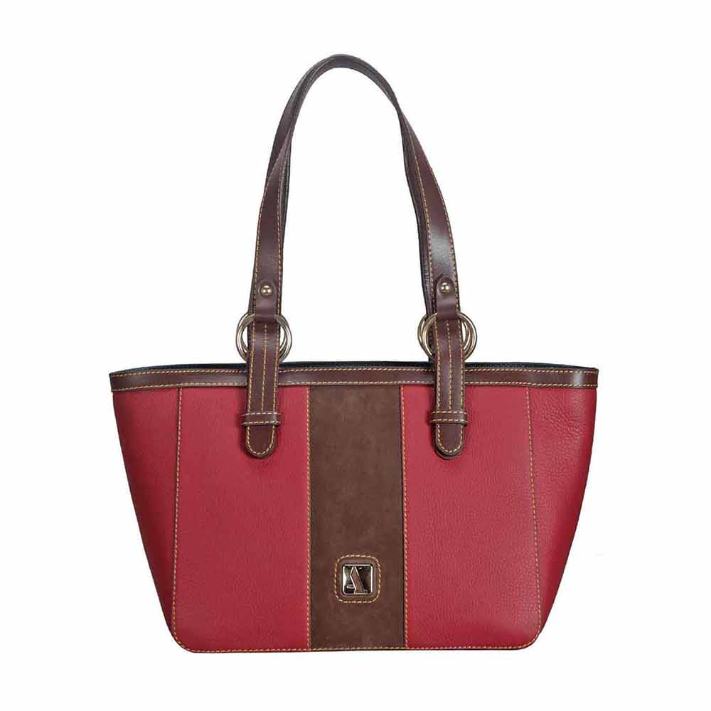 Adamis Leather Red Shoulder Handbag