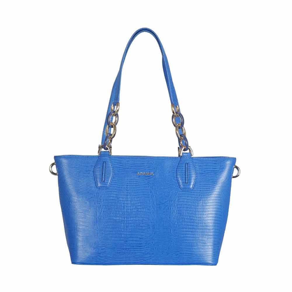 Adamis Leather Blue Shoulder Handbag
