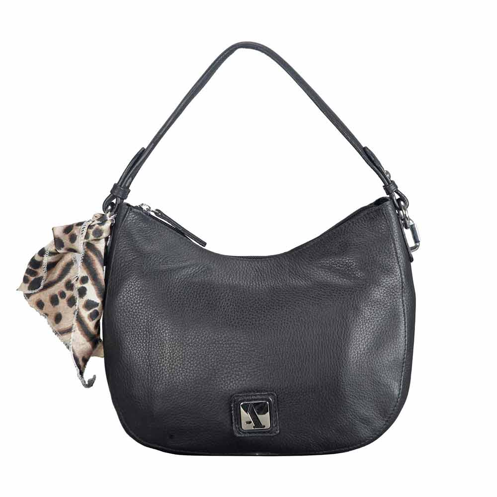 Adamis Leather Black Shoulder Handbag