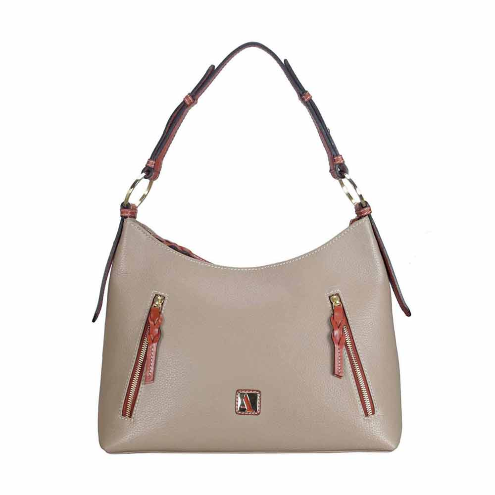 Adamis Tope Leather Shoulder Handbag