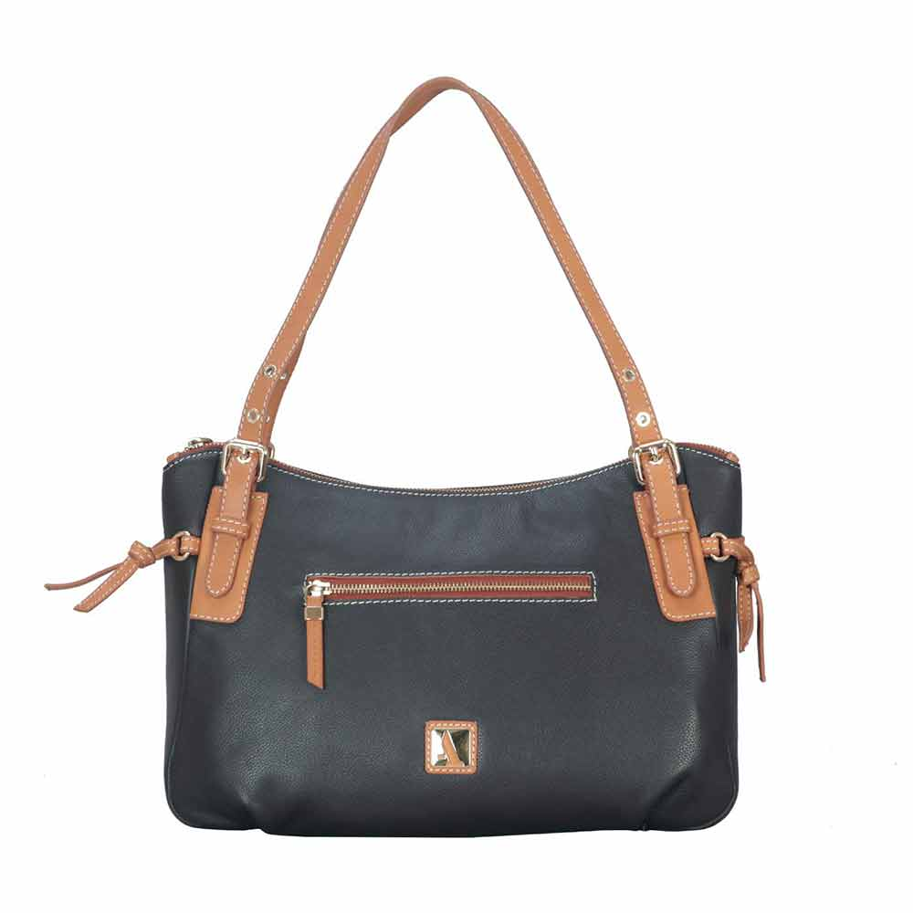 Shoulder Bags-Adamis Brown Leather Shoulder Handbag