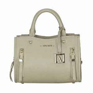 Clutches-Adamis Taupe Leather Sling Cross Body Bag Cum Clutch